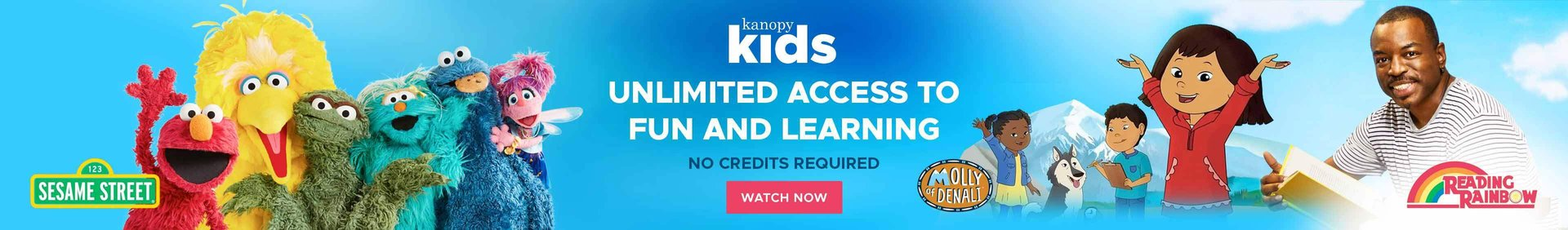 Kids Kanopy Unlimited access to fun and learning text with video stills