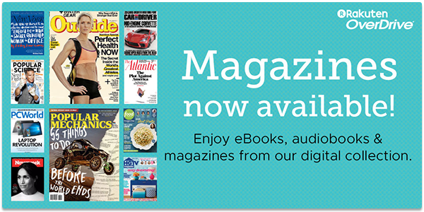 Digital magazines available through Mid-Columbia Libraries Overdrive.
