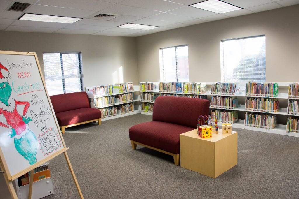 Temporary branch children's area