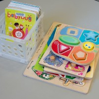baby puzzles and books